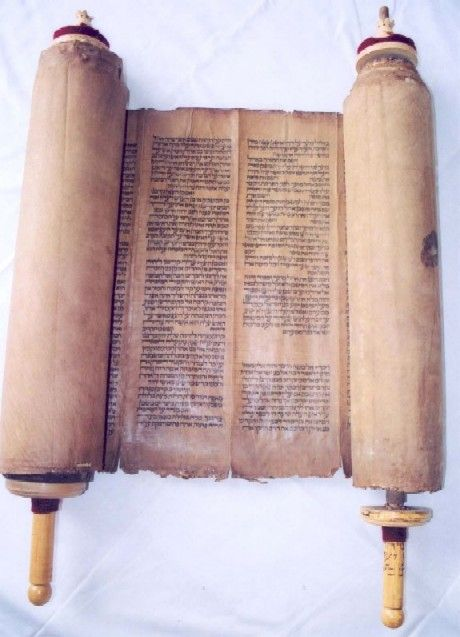 The Torah:- the first five books of the Jewish scriptures, the Books of Genesis, Exodus, Leviticus, Numbers and Deuteronomy.  It is in Christianity as the Pentateuch.