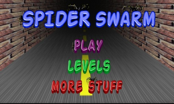Spider Swarm main screen. Available for Android devices.