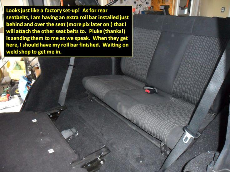 OEM 3rd row seat install on JKU - Jeep Wrangler Forum ...