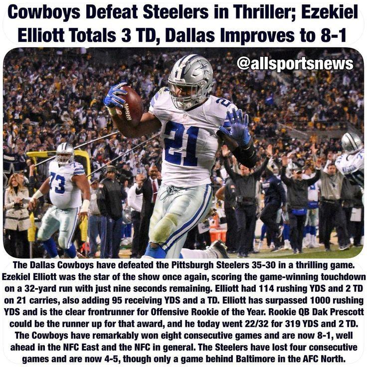 #DallasCowboys #Cowboys #Dallas #EzekielElliott #PittsburghSteelers #Steelers #NFL #Football #allsportsnews #instasports #sportsnews #sports #breakingnews #news #DakPrescott