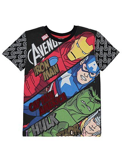 Marvel Avengers Diagonal T-Shirt, read reviews and buy online at George at ASDA. Shop from our latest range in Kids. Your own little super-kid can show their...