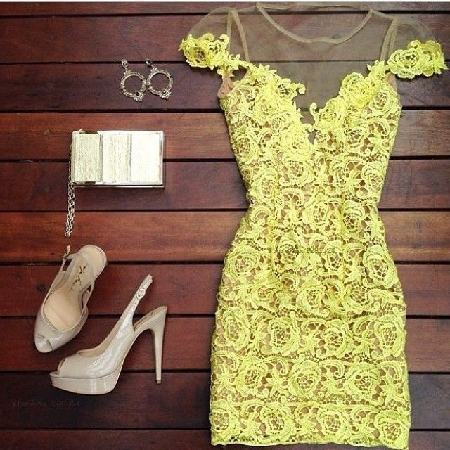 Hollow out lace sexy dress