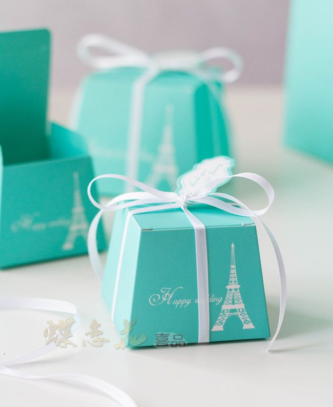 Novelty items candy tiffany blue paper box wedding favors and gifts party supplies decoration 50pcs/lot free shipping $23.88