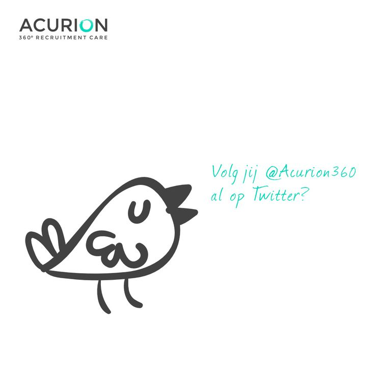 Volg jij ons al op Twitter? Blijf op de hoogte van het laatste nieuws, inzichten, vacatures en carrièrekansen bij Acurion! https://twitter.com/Acurion360