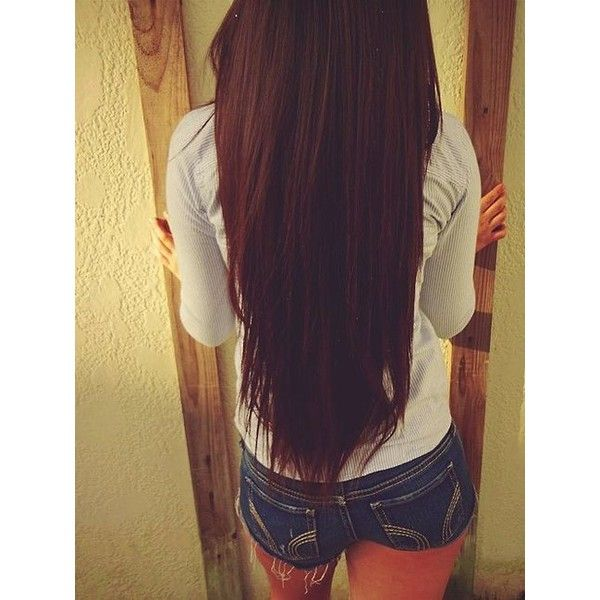 gah i wish my hair is that long and straight :(... ❤ liked on Polyvore