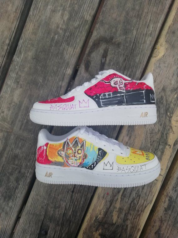 Basquiat Custom Nike Air Force one,custom sneakers , custom