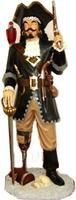 captain morgan statue, Pirate Captain Statue with Gun 6FT