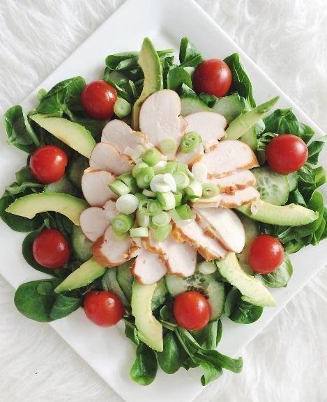 Recept: Salade gerookte kip & avocado – HealthyFoodByLau