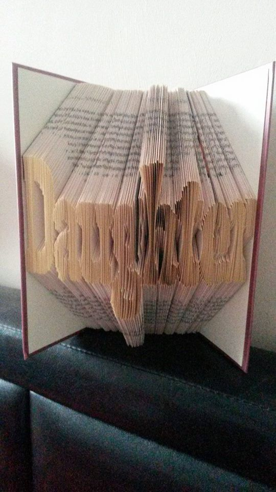 Book folding pattern for Daughter FREE by BookFoldingForever