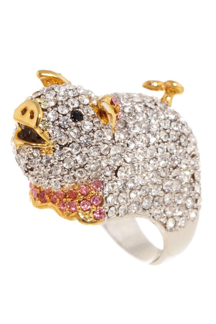 Oh. My. God. Pig ring.
