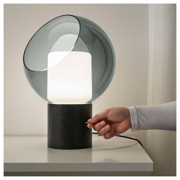 Evedal Table Lamp Gray Marble Globe Gray Globe Ikea Ikea Table Lamp Grey Table Lamps Lamp