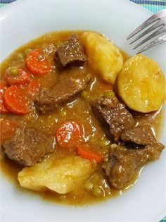 Estofado de carne con patatas  thermomix