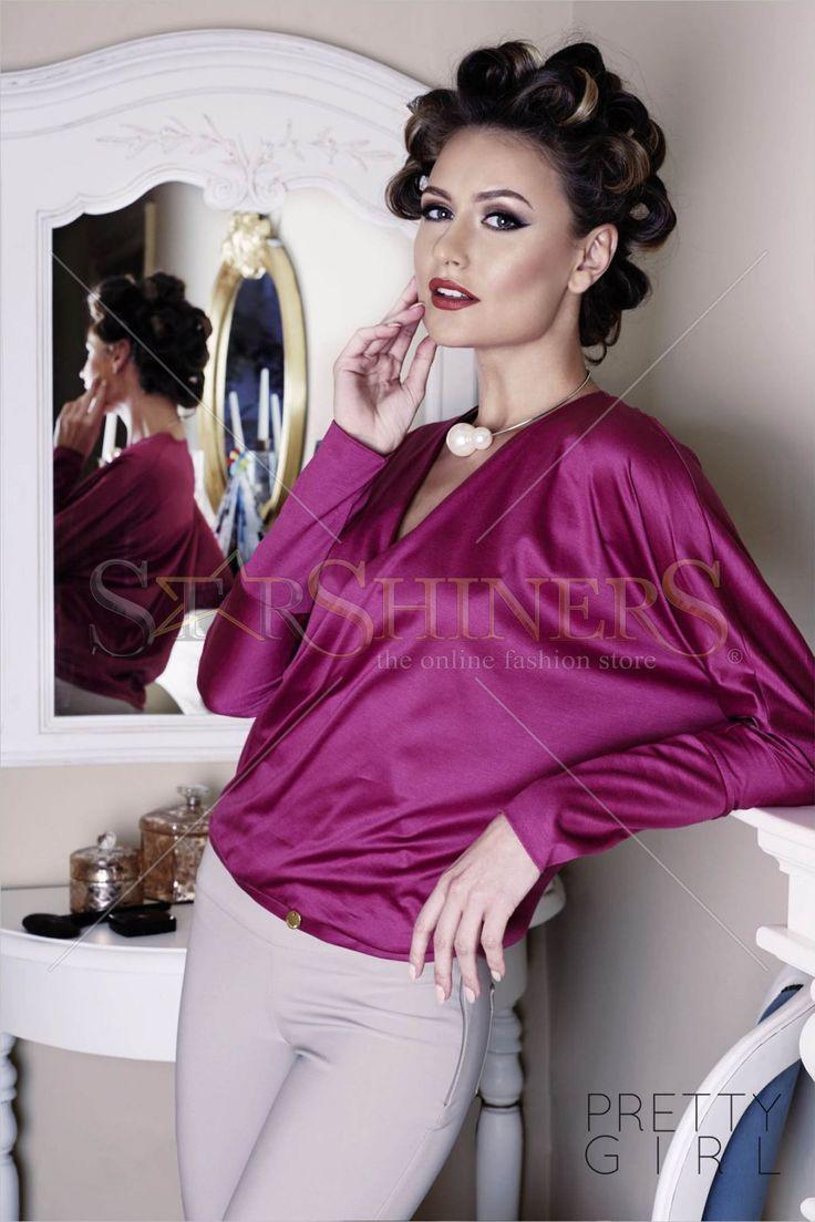 PrettyGirl Queenly Purple Blouse