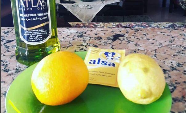 غزلان مكوار تقدم مقشر فيتامين C بالبرتقال والليمون ينعم ويخفف البقع السوداء Food Cheese Alsa