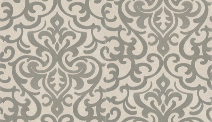 Cavendish (CAVENWAL/002) - Blendworth Wallpapers - An all over wallpaper featuring an elegant flocked damask design. Shown here in  shades of grey and cream. Other colourways are available. Please request a sample for a true colour match. Pattern repeat is 60cm. Paste-the-wall product.