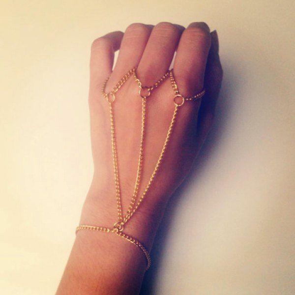 $3.52 Stylish Layered Link Design Bracelet For Women