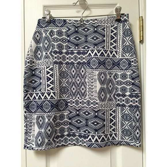 Fig & Blue Pencil Skirt Great condition and absolutely perfect for summer weather! Skirts Pencil