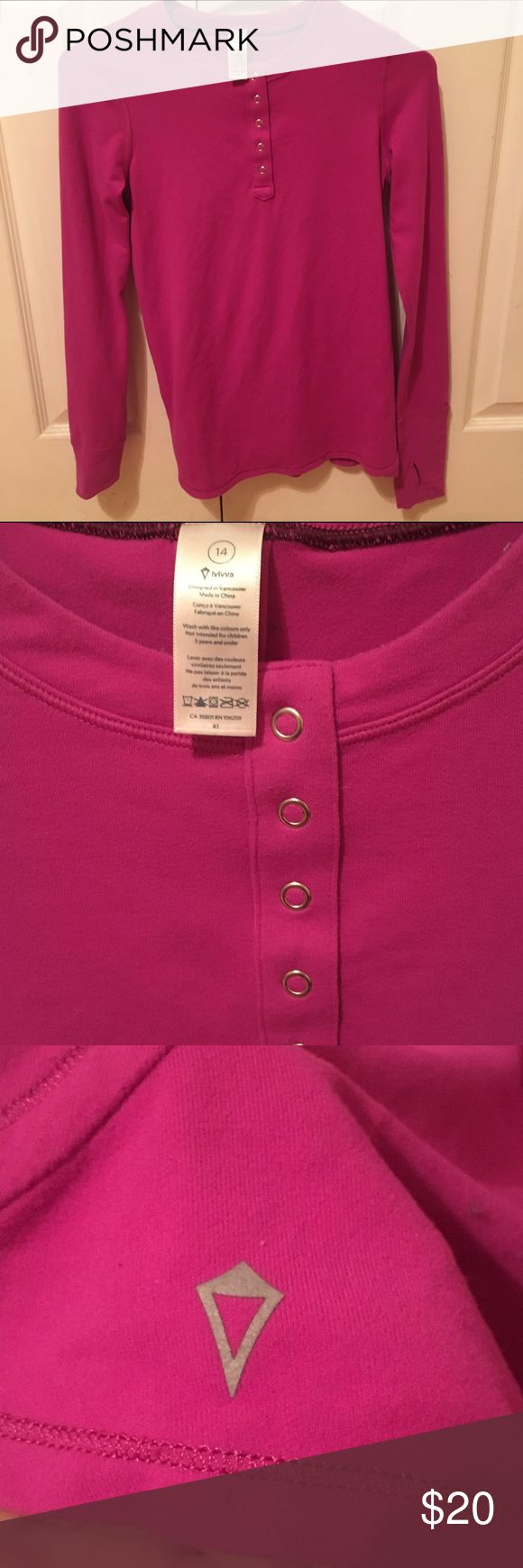 Ivivva Purple Half Button Shirt Purple half button up shirt by ivivva a kid brand by Lululemoon. Super cute half button purple shirt. Perfect for winter and sports. Martial is super stretchy. Can fit a petite woman. Free to leave questions or make offers down below. 🙂 Ivivva Shirts & Tops Tees - Long Sleeve