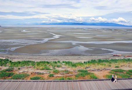 Take a leisurely stroll each morning along the boardwalk in Parksville (Vancouver Island)