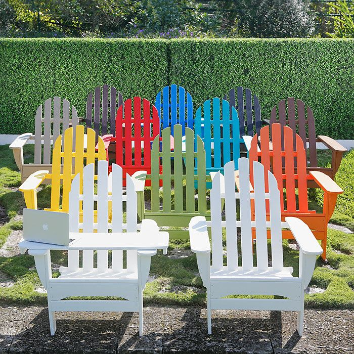 Free Tablet Tray  Polywood Adirondack chairs are made to last.