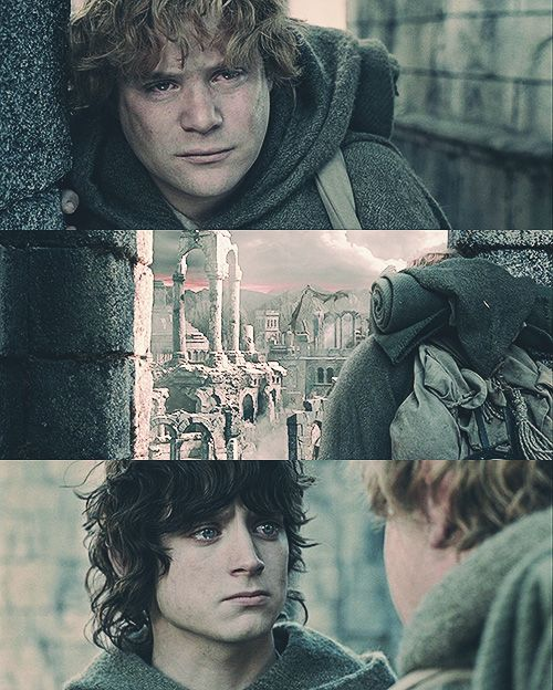 """"""" Frodo meme: (3/8) eight quotes """"It's like in the great stories, Mr. Frodo. The ones that really mattered. Full of darkness and danger they were. And sometimes you didn't want to know the end. Because how could the end be happy? How could the world..."""