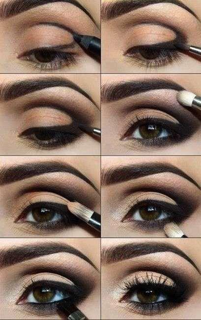 Trucco occhi arabo nude - Una versione sofisticata e naturale di trucco occhi in stile arabo.