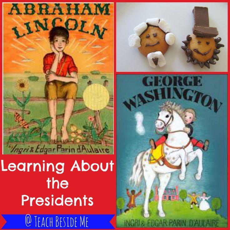 Lincoln and Washington President Cookies - Teach Beside Me