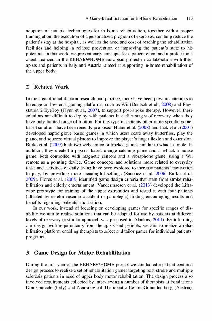 A GameBased Solution for InHome Rehabilitation