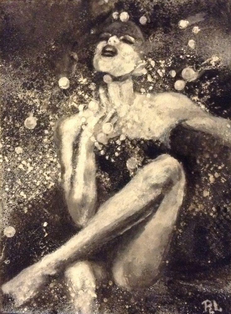"""#""""Åh...""""#Mixed media on canvas#18x24#rithva"""