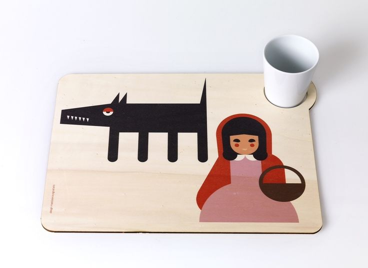 Icon dinner set is a table mat in printed natural wood.designed by Maddalena Pignatiello.Icon dinner set are inspired by classic tales.Size: 30x40 cmClean with a dry cloth