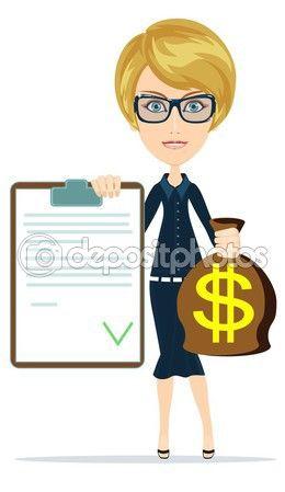 Фотографию женщины с долларом подписали мешок — стоковая иллюстрация #79970876