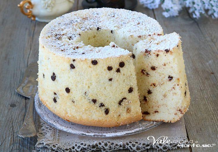 CHIFFON CAKE ALLA STRACCIATELLA ciambella soffice e leggera, ciambellone americano morbido e facile da preparare, ricetta chiffon cake