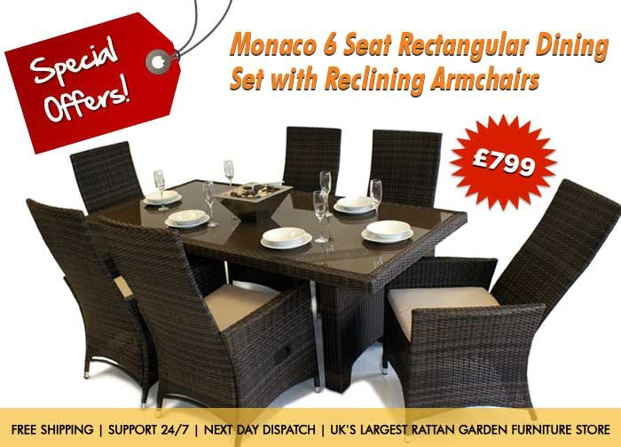 Grab This Offer 799 Buy 6 Seater Dining Set With Reclining Armchairs Free