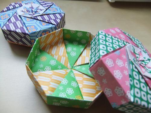 Aurora blog in Sweden 折り紙で八角形小箱✽作り方