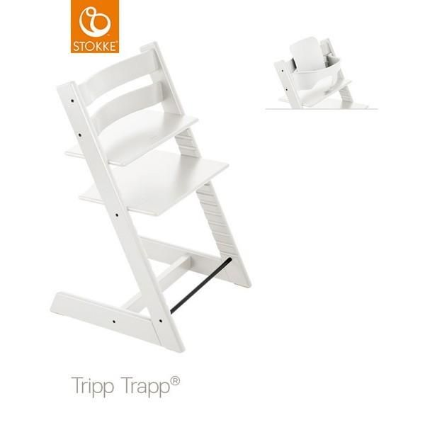 Stokke Tripp Trapp Chair White + Babyset White. Shop It By Bruun!