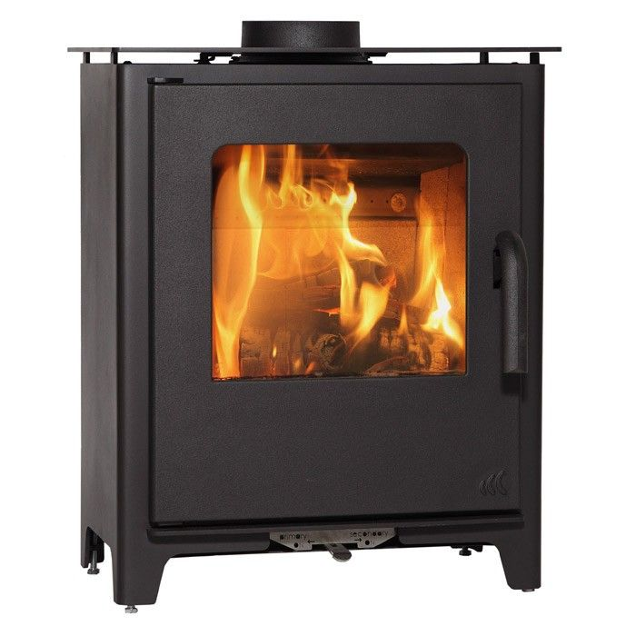 P This Mendip Loxton 6 Multi Fuel Wood Burner Stove Is Contemporary And Sleek With A Large Gl Viewing Window To Show Off The Fire S Mesmarising