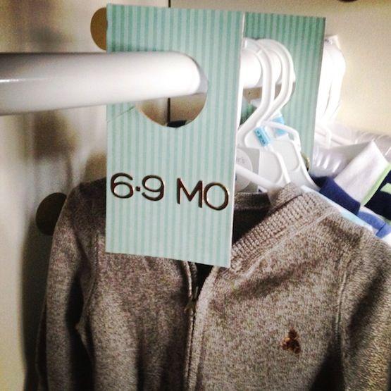 20 Closet Organization Tips & Tricks: DIY clothing dividers