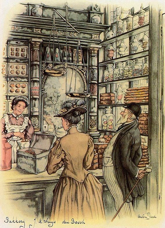 Anton Pieck (1895-1987) Weihnachtsbäckerei