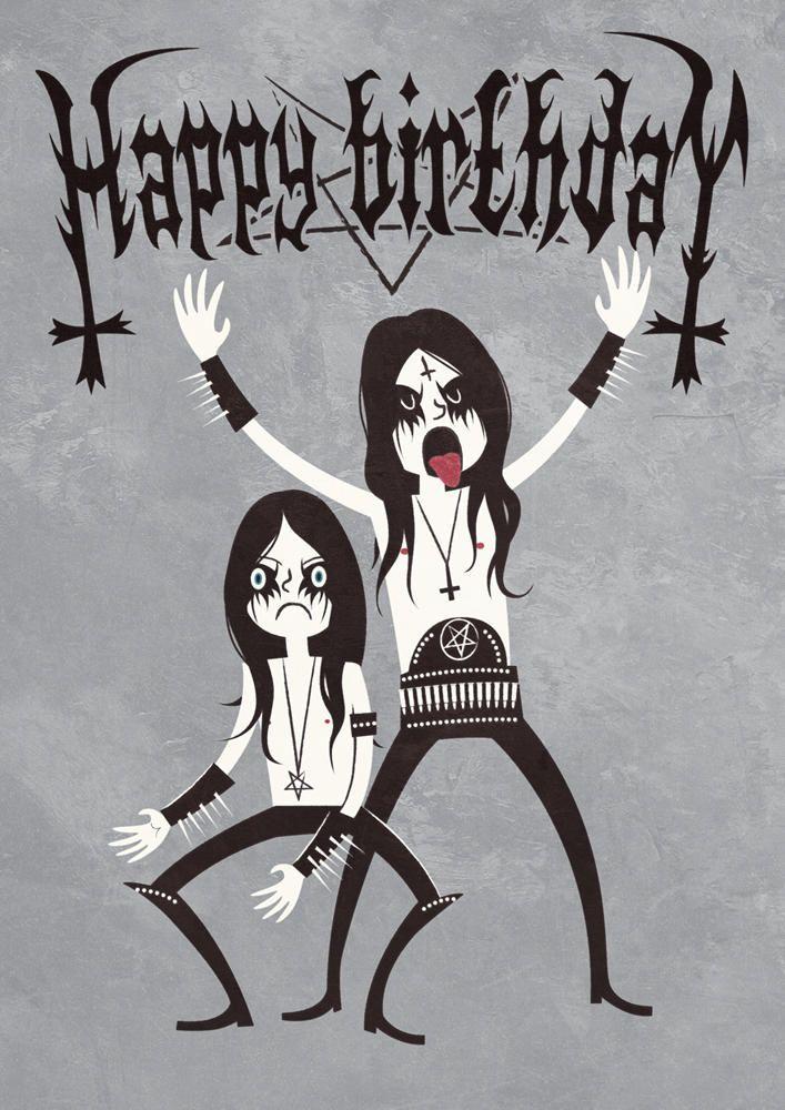 Black Metal Birthday By Nemons Happy Birthday Black Happy Birthday Funny Happy Birthday Meme