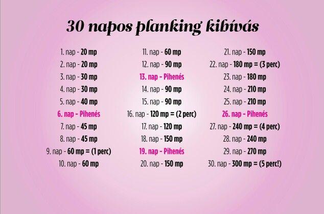 30 napos planking