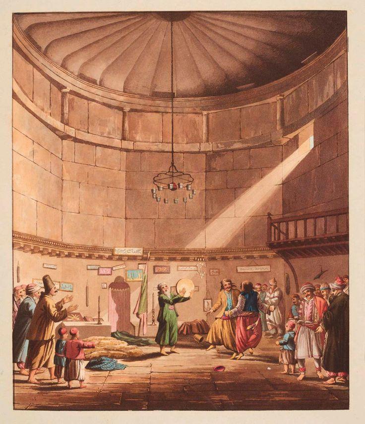 Αέρηδες. Ο χορός των Δερβίσηδων. Έργο του Edward Dodwell. (1767 ~ 1832).