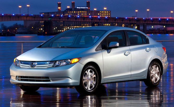 2012 Honda Civic Hybrid - 44/44 mpg