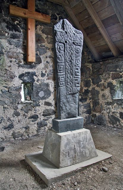 Viking Gravestone, Cille Bharra, Isle of Barra. Our tips for 25 fun things to do in Scotland: http://www.europealacarte.co.uk/blog/2010/12/30/things-scotland/