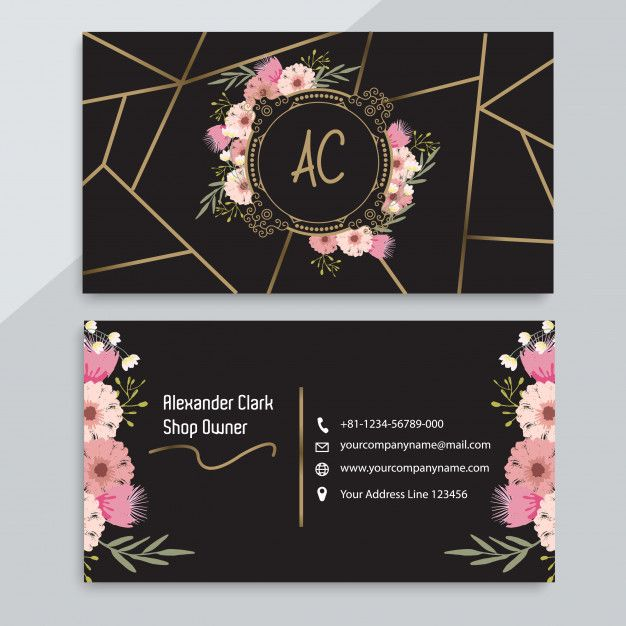 Floral Business Card Template Floral Business Cards Beauty Business Cards Graphic Design Business Card