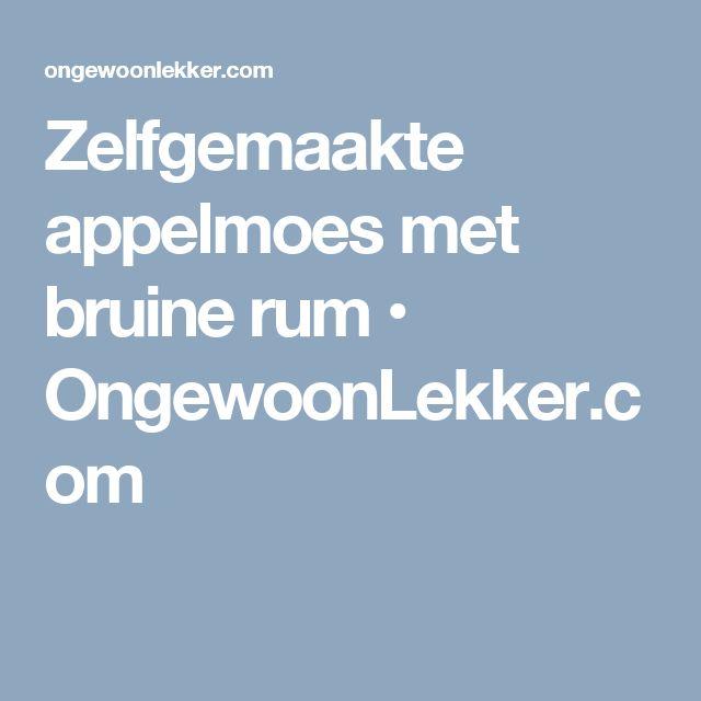 Zelfgemaakte appelmoes met bruine rum • OngewoonLekker.com