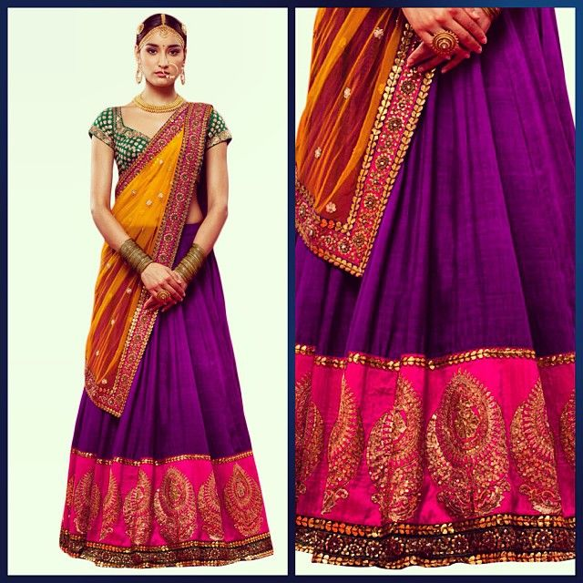 Sabhyasachi. I am in love with his style. Half saree