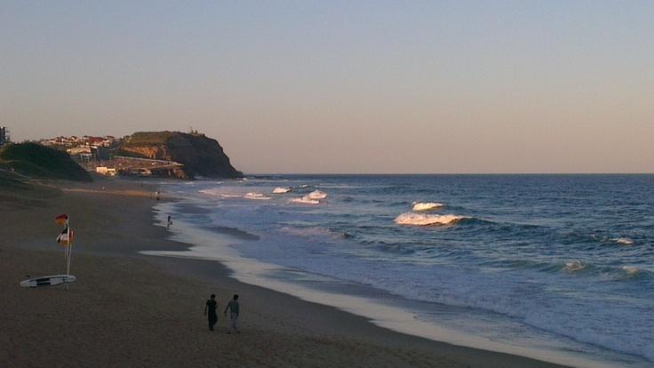 Bar beach at dusk. (Photo by me using htc smart phone)
