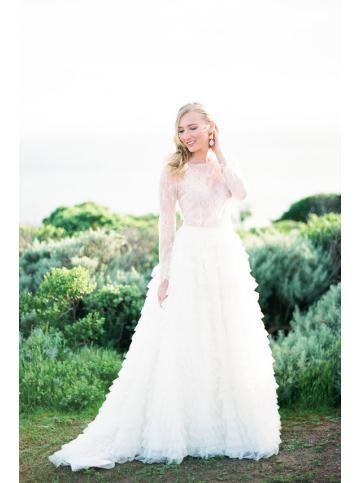 Robe de mariage princesse manche longue