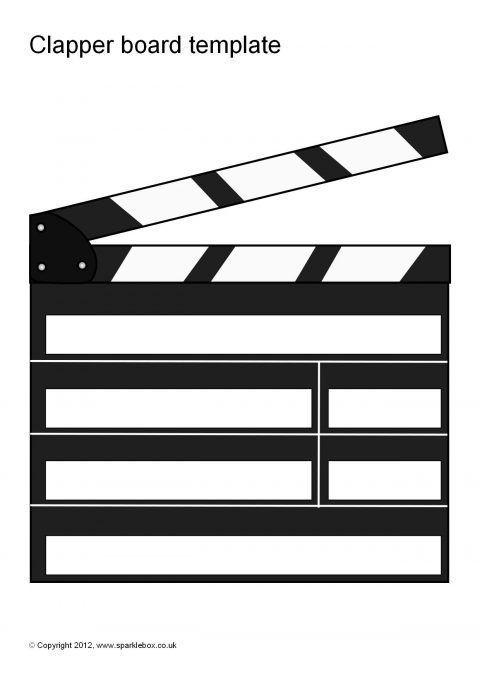 Editable Clapper Board Templates (SB7427) - SparkleBox