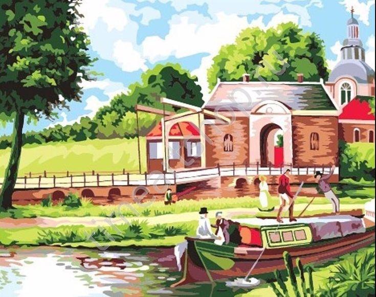 Водная прогулка, картина раскраска по номерам, размер 40 ...